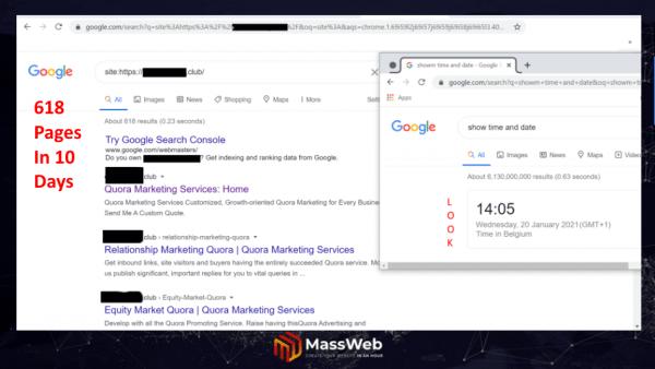 Proof Of Content SEO Websites